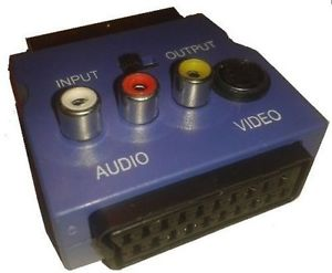 ADATTATORE SCART 3 RCA/H Y VIDEO S-VHS IN/OUT