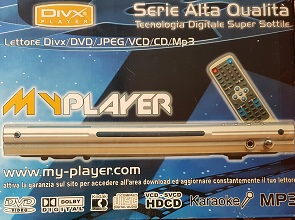 LETTORE DIVX DVD JPEG MP3 +KARAOKE IN